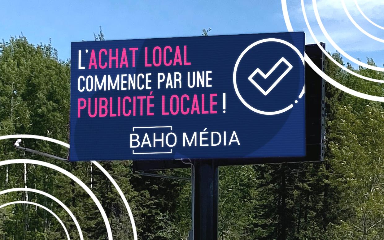L'achat local commence par une publicité locale!